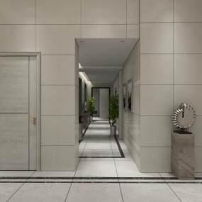 现代电梯间3D模型【ID:930861913】