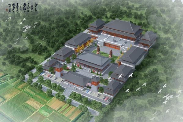 中式古建鳥瞰3D模型【ID:245556004】