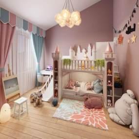 北欧女儿房3D模型【ID:545630701】