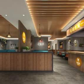 火锅店中餐厅 3D模型【ID:640657598】