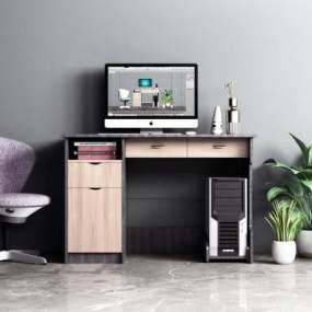 现代办公桌椅组合3D模型【ID:948745113】