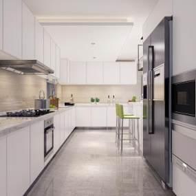 現代廚房3D模型【ID:552604344】
