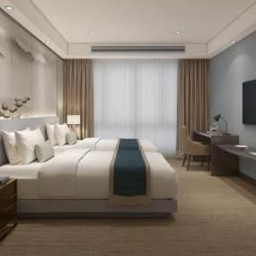 酒店客房3D模型【ID:736163364】