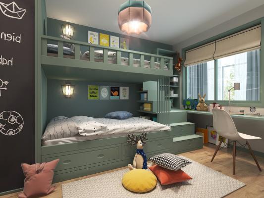 北歐兒童房3D模型【ID:833619897】