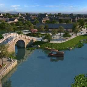 中式桥3D模型【ID:231937167】