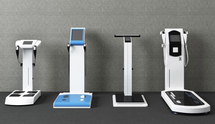 現代健身房體測儀設備組合3D模型【ID:735443819】