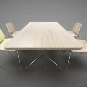 现代风格餐桌3D模型【ID:847384845】