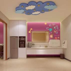 现代母婴室3D模型【ID:935662965】