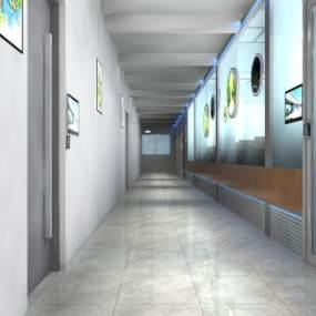 现代走廊3D模型【ID:946035991】