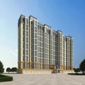 现代住宅多层3D模型【ID:133841756】