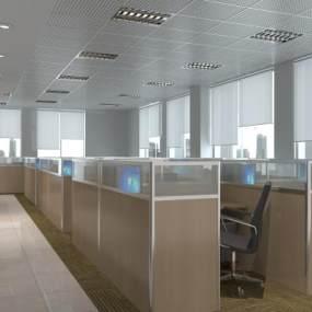 现代办公室3D模型【ID:949191027】