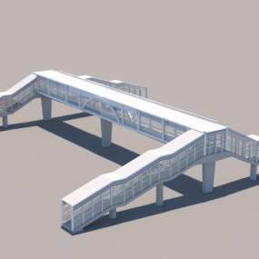 人行過街天橋改造3D模型【ID:943858936】