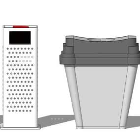 现代户外单桶垃圾箱【ID:650764650】