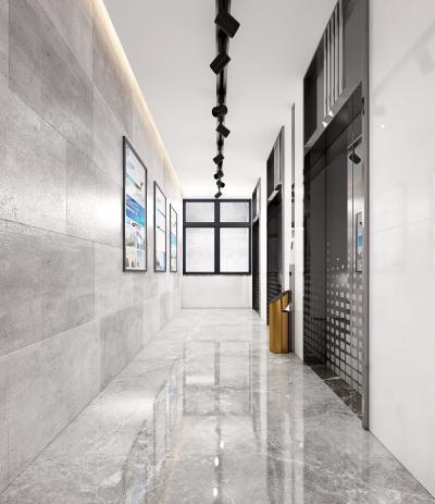 现代电梯走廊