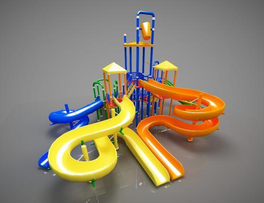 现代游乐设备3D模型【ID:434791190】