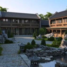 中式古建3D模型【ID:231939137】