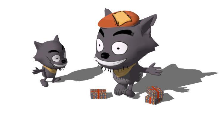 现代灰太狼玩具SU模型【ID:151642072】