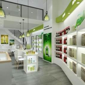 現代進口商品化妝品店3D模型【ID:148050201】