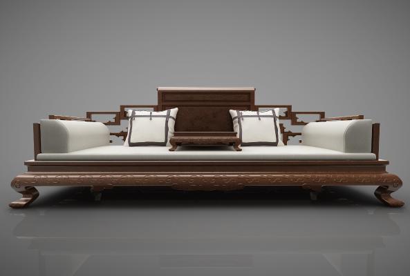 新中式风格沙发3D模型【ID:644537697】