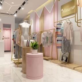 现代时尚女装店3D模型【ID:946943755】