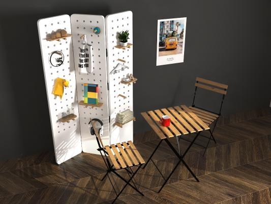 屏风置物架 户外折叠桌