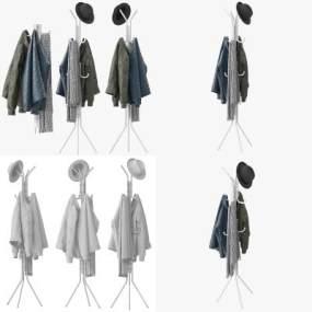 现代衣架3D模型【ID:644460289】