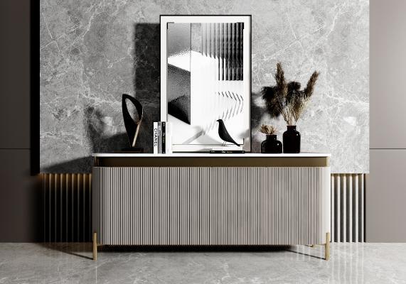 现代边柜 电视柜 餐边柜 装饰品