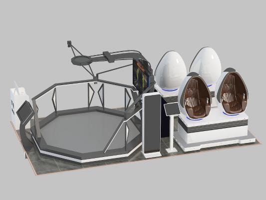 VR设备体感仪器3D模型【ID:442721024】
