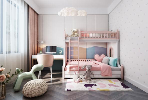 现代儿童房3D模型【ID:542558798】