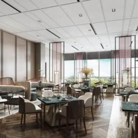 现代餐厅3D模型【ID:633250219】