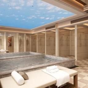 现代浴室3D模型【ID:936025964】