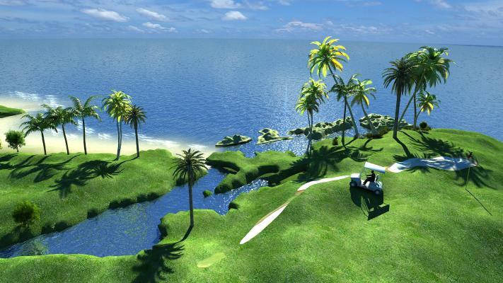 海边3D模型【ID:241686002】
