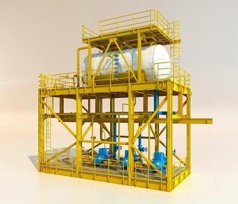 现代工业设备3D模型【ID:241852300】