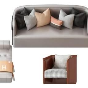 简欧式沙发 3D模型【ID:642351741】