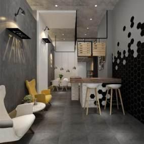 北欧咖啡厅3D模型【ID:632880322】
