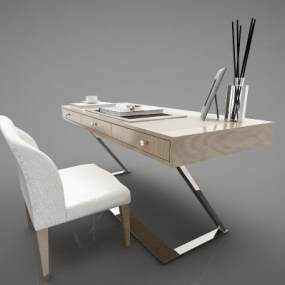 现代风格书桌3D模型【ID:952600067】