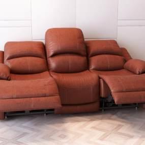 现代多功能皮衣沙发3D模型【ID:634743536】