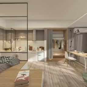 北欧公寓3D模型【ID:543530237】