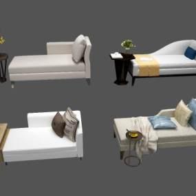 中式贵妃椅3D模型【ID:730951235】