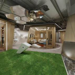 現代風格旅店3D模型【ID:950835669】