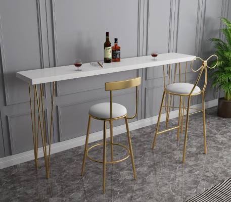 后现代轻奢风格吧椅吧桌组合 吧凳 酒吧桌椅