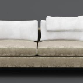 现代绒布沙发3D模型【ID:634854745】