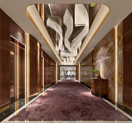 现代酒店电梯厅