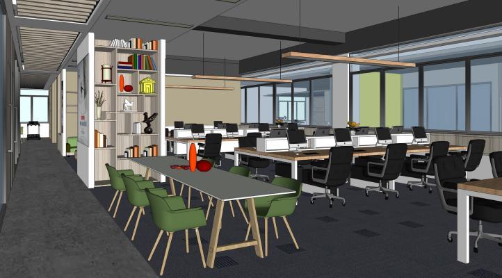 现代办公室SU模型【ID:345490295】