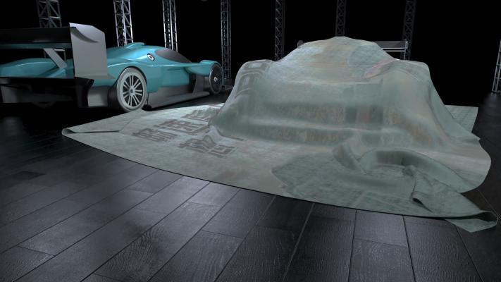 现代F1赛车汽车3D模型【ID:447082716】