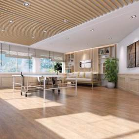 现代办公室3D模型【ID:945104450】