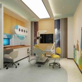 现代牙科医疗诊室3D模型【ID:938438909】