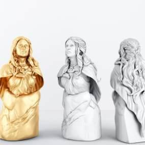 北欧人物雕像摆件3D模型【ID:343387148】