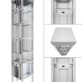 现代观光升降电梯3D模型【ID:435666589】