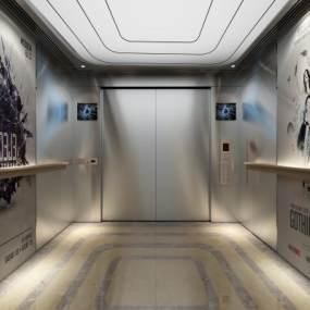 现代电梯3D模型【ID:946086978】